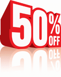 50% sheet music discount