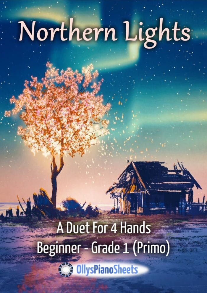 Northern Lights - piano duet for beginner primo players at Grade 1 (ABRSM)