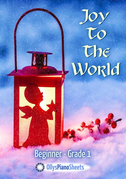 Joy To The World - piano sheet music - cover