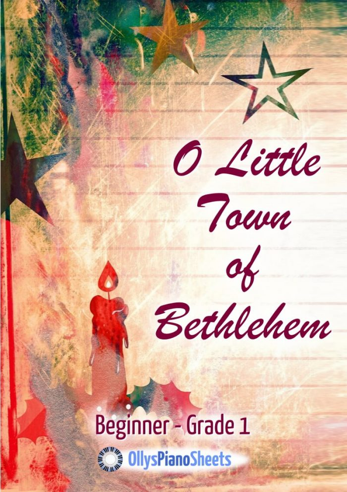 O Little Town Of Bethlehem - piano sheet music by Olly Wedgwood