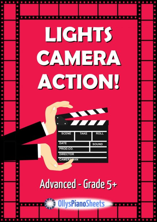 Lights Camera Action! Piano Sheet Music