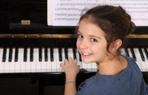 Young girl at piano