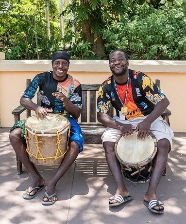 Drumming men