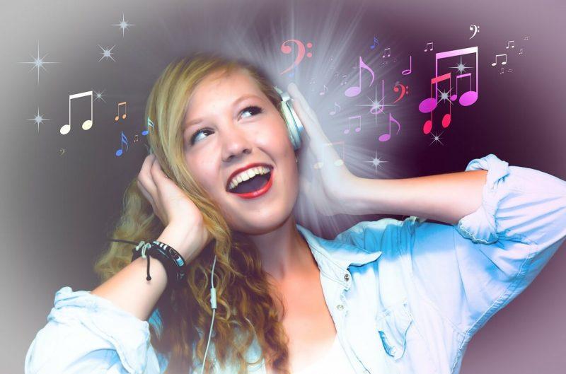 Listening to music girl