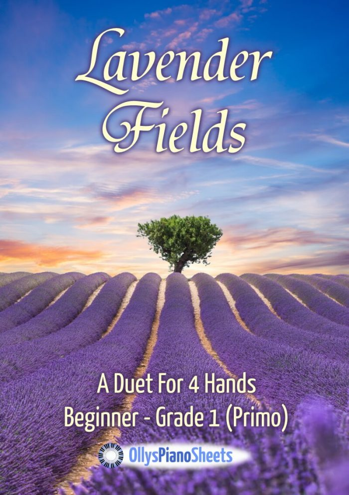 Lavender fields - piano duet - Olly Wedgwood