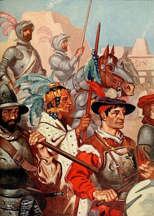 Conquistadors drumming